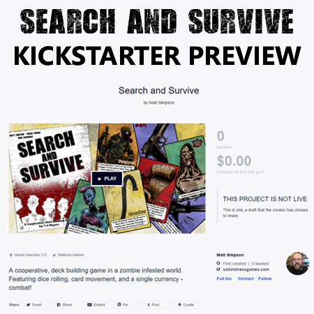 Search and Survive Kickstarter Preview
